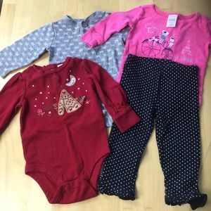 Other - 4pc set mixed girls 6-12 months
